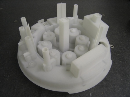 White mould image create using rapid prototyping