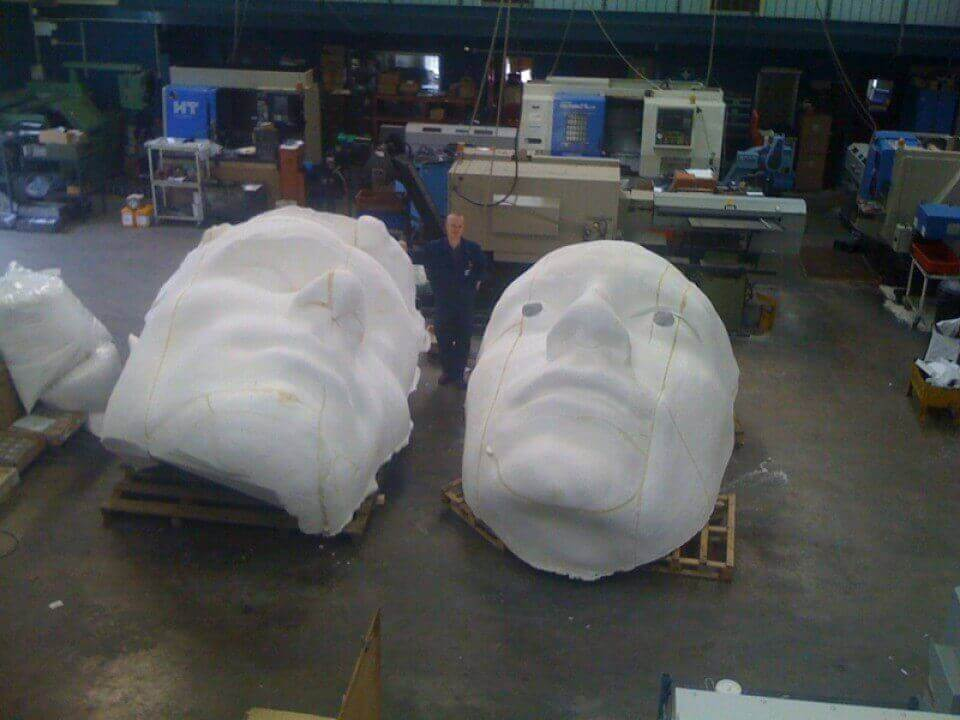 4 Metre Heads CNC Machining In Sections