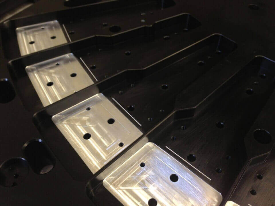 CNC Milling with black anodising