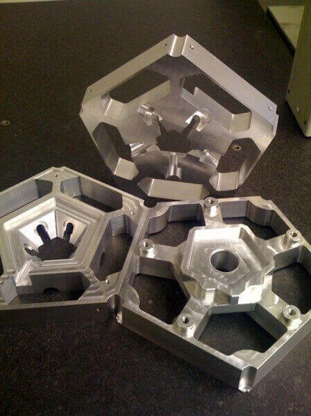 Components Milled from solid Aluminium