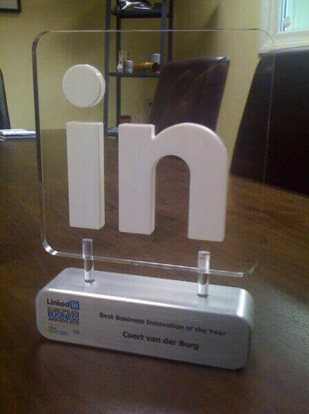 Linked in Award Aluminium and Acrylic CNC