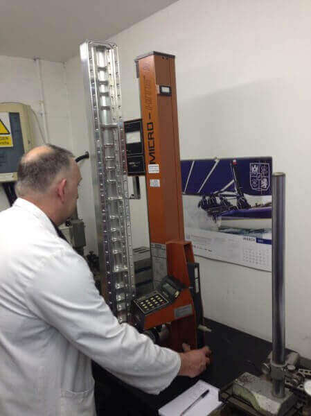 high precision machining taking place