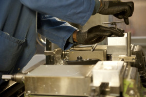 Precision Engineer in factory