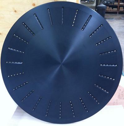 Blue CNC machining