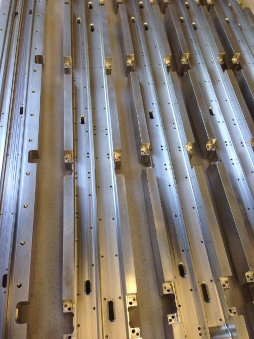 milled 2m long aluminium