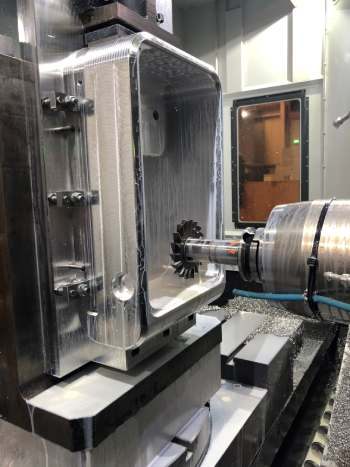 4 Axis Large Horizontal Machining from Solid - High Performance Electronics Enclosure