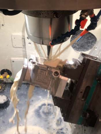 5 Axis CNC Machining of Complex Valve in 316 Stainless