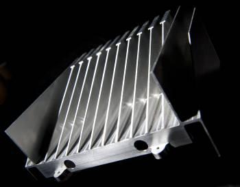 Complex heatsink - CNC Machining Solid Aluminium